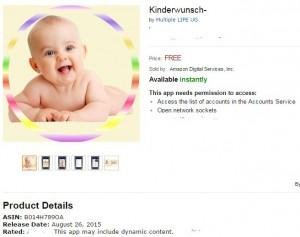 Kinderwunsch- Amazon APP