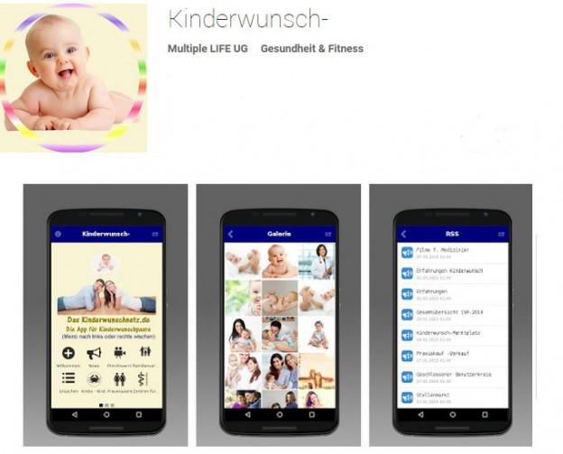 Kinderwunsch APP für Android Smartphone