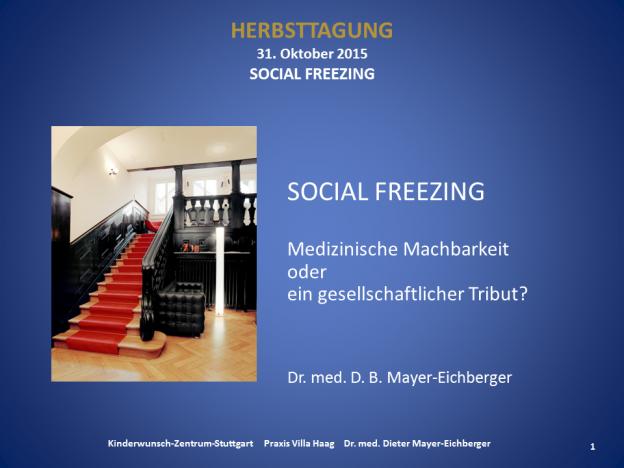 Social Freezing beim Ärztekongress in Stuttgart Herbsttagung 2015