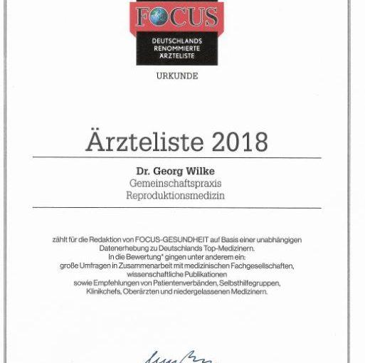 Kinderwunsch Hildesheim Auszeichnung 2018